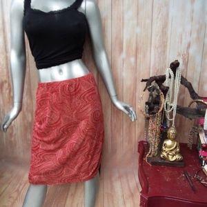 SALE 5 FOR $25 XL Pencil Skirt Orange Sparkles